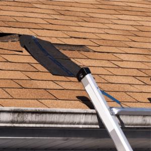 fixing a damaged asphalt composition roof