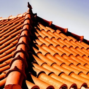 orange coloured clay tiled roof