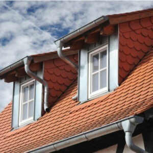 orange coloured clay roofing tiles