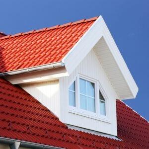 red metal shake roof